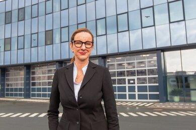 Cathrin Wilhelm ist die geschäftsführende Gesellschafterin bei der Firma Binz. Das Unternehmen aus Thüringen übernimmt den MAN-Standort Plauen.