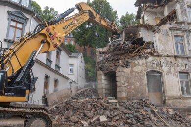 In Annaberg-Buchholz bereits verschwunden: das Reppelhaus an der Karlsbader Straße.