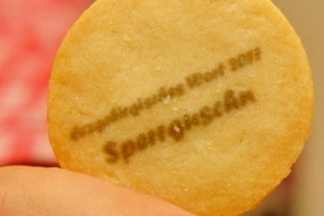 Schmeckerchen: Sperrguschen-Keks.