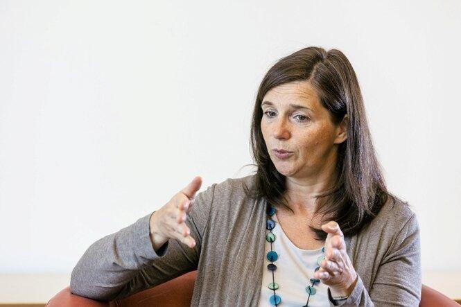 Katrin Göring-Eckardt geht davon aus, dass die Grünen kurz vor der Wahl noch zulegen können.