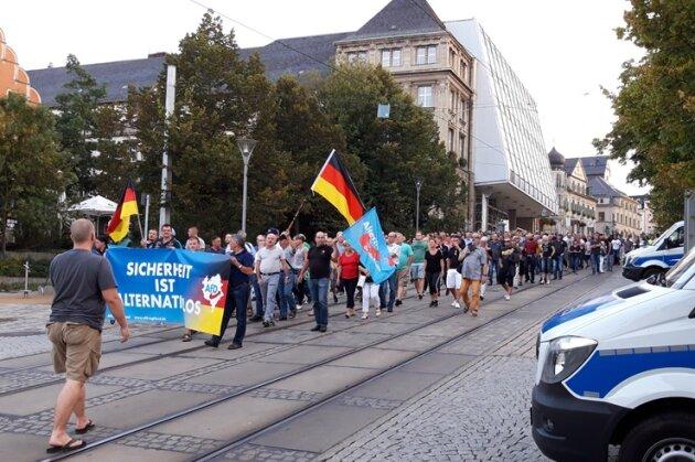 350 Menschen bei AfD-Demonstrantion