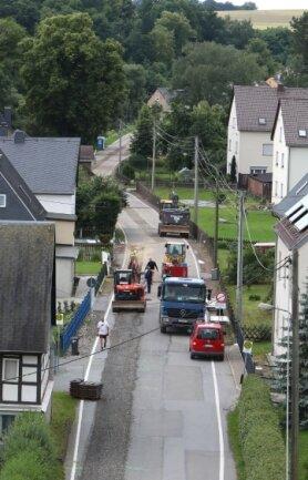 Baustelle an der Lungwitzer Straße in St.-Egidien.