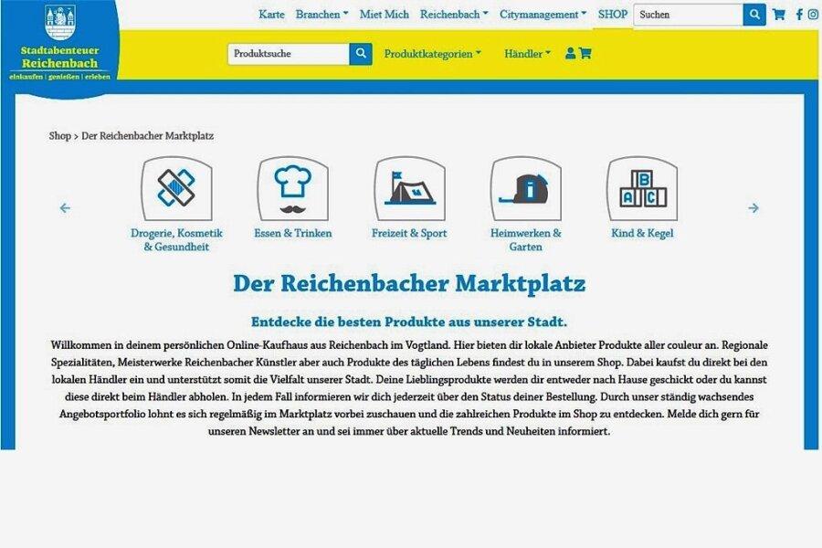 """Auf der Internetseite dein-reichenbach.de ist der Online-Marktplatz über die Schaltfläche """"Shop"""" zu finden."""