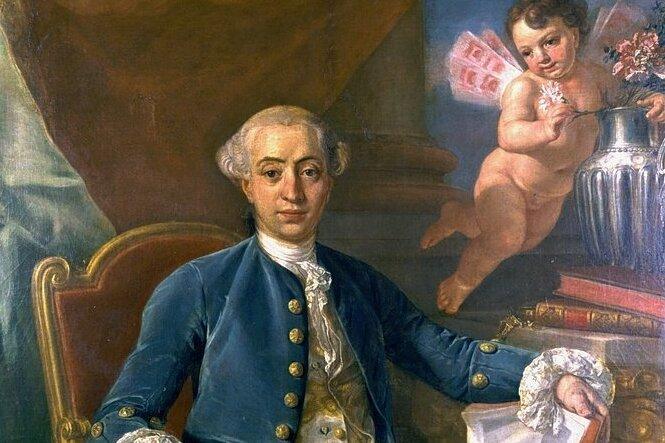 Giacomo Casanova auf einem Gemälde, das dem Maler Anton Raphael Mengs (1728 bis 1779) zugeschrieben wird.