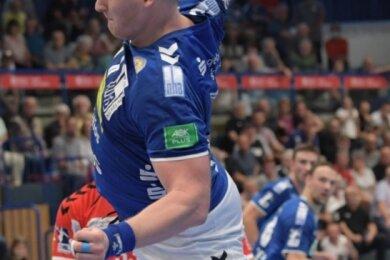 Aues Kapitän Bengt Bornhorn war mit sieben Toren erfolgreichster Werfer im ersten Heimspiel der neuen Saison. Trotz der Niederlage gegen Essen malt er nicht schwarz. Denn sein Team hielt lange gut mit.