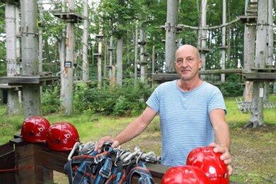 Für Jürgen Reumann und den Werdauer Kletterwald beginnt die Saison 2021 offiziell am heutigen Samstag.