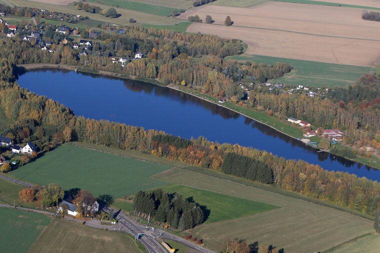 Das Naherholungsgebiet Stausee Oberwald bei Callenberg ist vom Betreiber, einer landkreiseigenen Tochterfirma, für Besucher derzeit gesperrt.