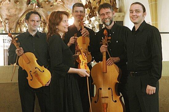 Cordae freybergensis mit Dario Luisi, Susanne Scholz, Jonathan Talbott, Marc Vanscheeuwijck und Rudolf Brunnhuber (von links).Foto: