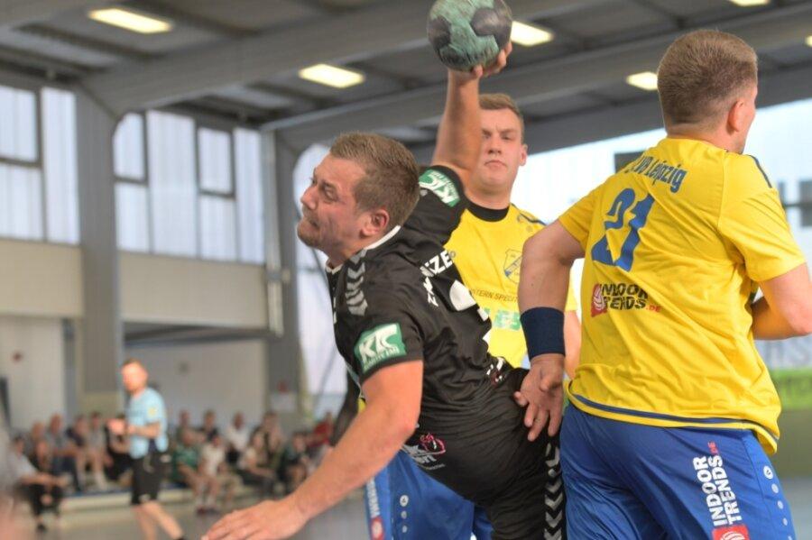 Jiri Brecko zeigte auch gegen die SG LVB Leipzig seine Klasse und traf fünfmal ins Schwarze.