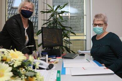 Ab 15. Dezember wird Elke Reimer (r.) die Geschicke im Betreuten Wohnen der Volkssolidarität von Sabine Röse übernehmen.