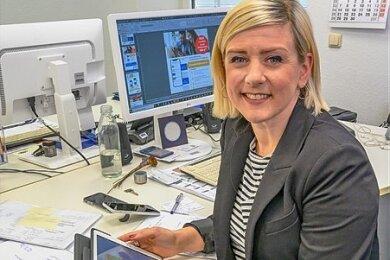 Franziska Krause, Leiterin des Online-Service.