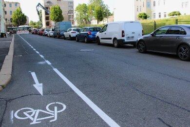 Hier können Radfahrer entgegen der Einbahnstraßenregelung fahren.