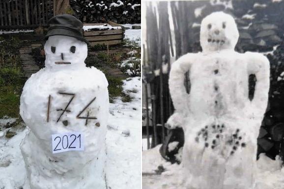 Neudorf: Zwischen diesen Schneemännern liegen 66 Jahre