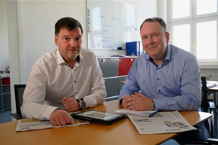 Tobias Schniggenfittig (rechts) ist Geschäftsführer des VAC und verantwortet mit Lutz Wienhold die Erfolge des Lokalmediums BLICK.