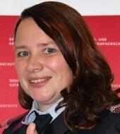 Sandra Neubert - Feuerwehrfrau und eines der Gesichter der Werbekampagne.