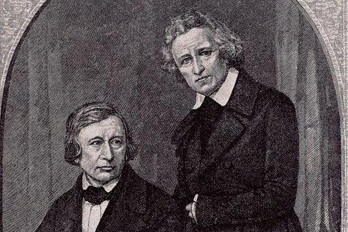 Wilhelm Grimm (links) und sein Bruder Jacob.