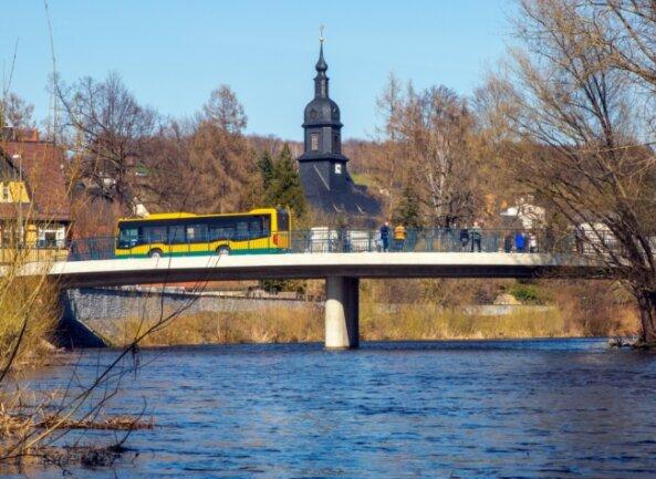 Die neue Kirchenbrücke hat 3 Millionen Euro gekostet. Sie ermöglicht jetzt bei Hochwasser größere Durchflussmengen.