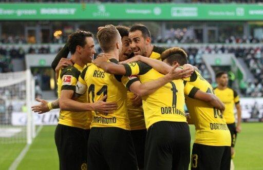 Marco Reus macht das entscheidende 1:0 in Wolfsburg