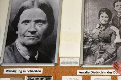 Im ehemaligen Rathaus von Siebenlehn zeigt Dietmar Lippert Aufnahmen in der Amalie-Dietrich-Gedenkstätte. Die Naturforscherin wurde am 26. Mai 1821 in Siebenlehn geboren und starb am 9. März 1891 in Rendsburg.