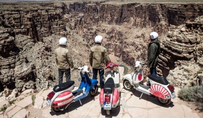 Nahe dem Grand Canyon bot sich den Vespa-Piloten dieser traumhafte Ausblick abseits der großen Pisten.