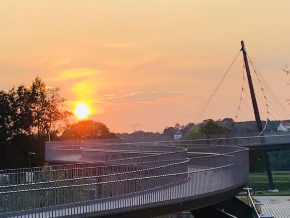 Sonnenuntergänge und Motive von der Landesgartenschau - hier die Schlangenbrücke - posteten Nutzer der Fotoplattform Instagram aus Frankenberg besonders gern.