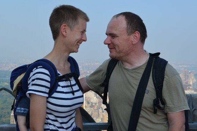 Eva-Maria und Frank Hommel in New York - im Hintergrund: der Central Park.