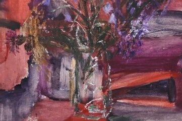 """Auch die """"Wiesenglockenblumen im Glas"""" sind zu sehen."""