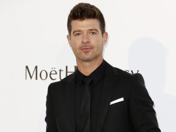 Sänger Robin Thicke 2015 in Antibes.