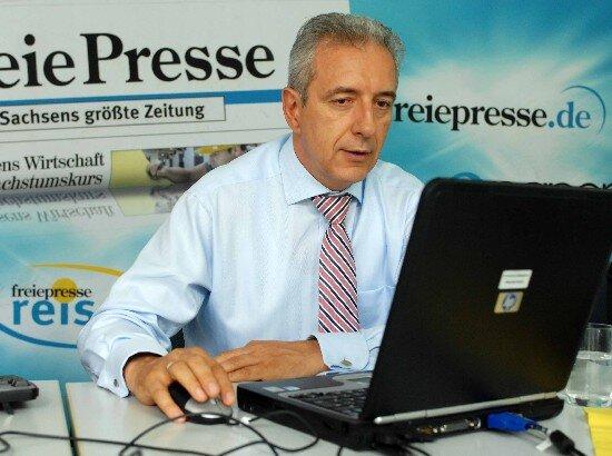 Stanislaw Tillich im Wahlchat