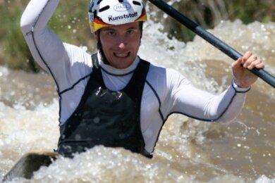 Konzentriert zum Erfolg: Christian Bahmann bei der Olympiaqualifikation im Jahre 2008.