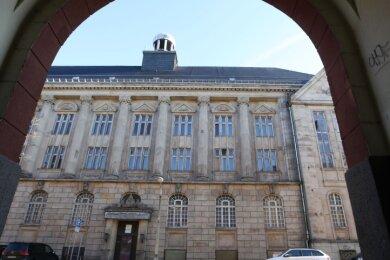Blick auf das Ernst-Seifert-Haus, ein Bestandteil des gesamten Palla-Komplexes in Glauchau.