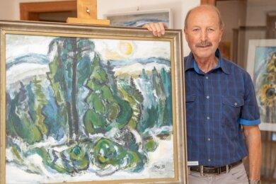 Diethard Mey ist Schüler des bekannten Malers Carl-Heinz Westenburger.
