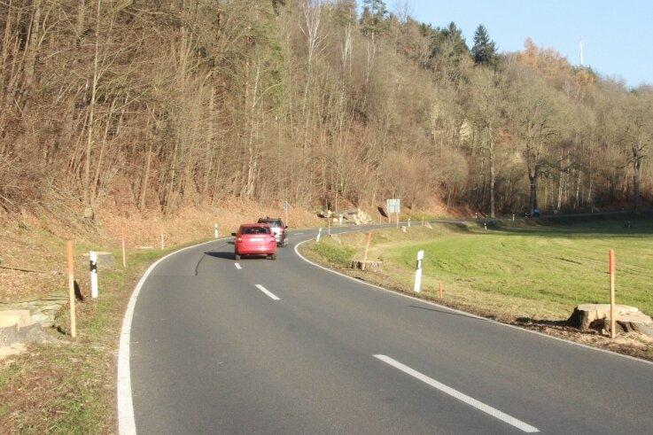 Mehrere Straßenbäume wurden an der B 92 nahe der Gaststätte Landesgrenze in Richtung Elsterberg gefällt.