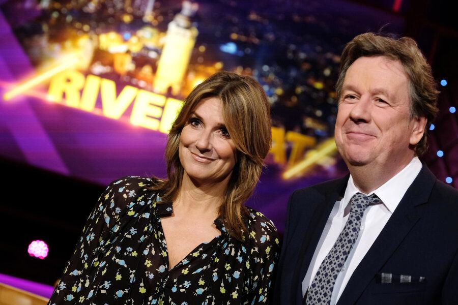 """Jörg Kachelmann und Kim Fisher moderieren wieder gemeinsam die Talkshow """"Riverboat"""" des Mitteldeutschen Rundfunks (MDR)."""