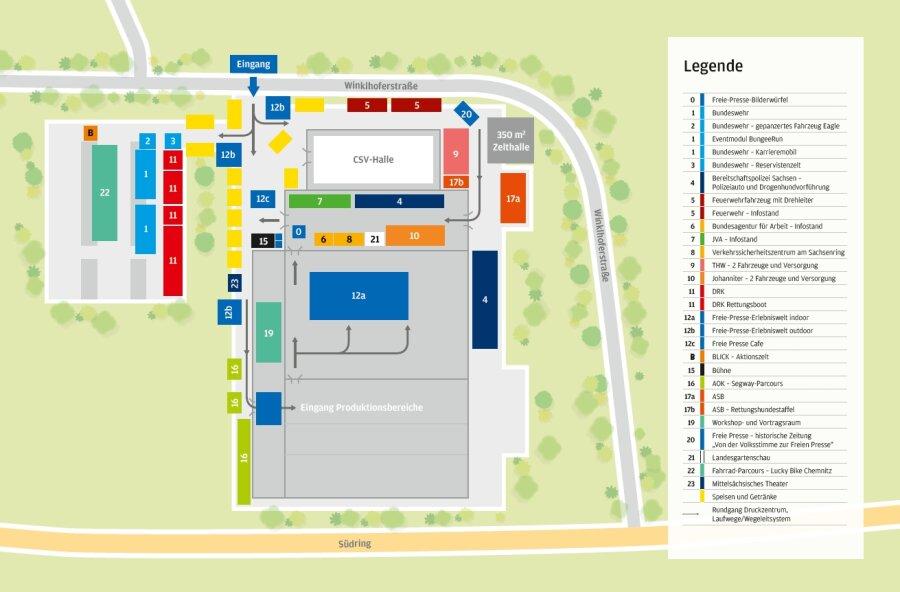 Lageplan, Park- und Verkehrsordnung