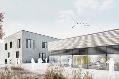 So in etwa soll der neue Sportkomplex an der TU Chemnitz nach seiner Fertigstellung in drei Jahren aussehen.