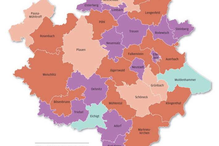 Corona: Zwei Kommunen im Vogtland seit sieben Tagen ohne Neuinfektionen