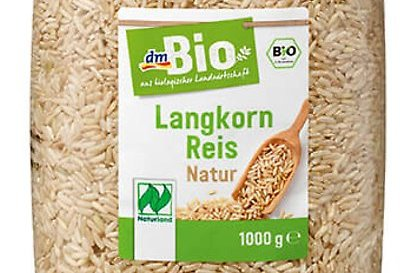 Drogeriemarkt dm ruft Reis zurück