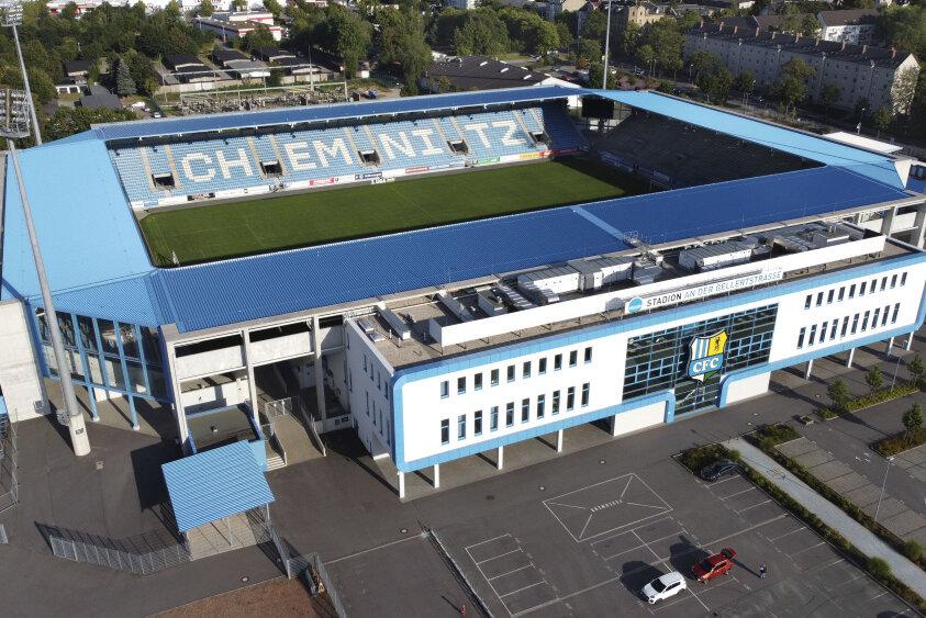 Das Stadion an der Gellertraße. Künftig wird der CFC hier mit neuem Trikotsponsor auftreten.