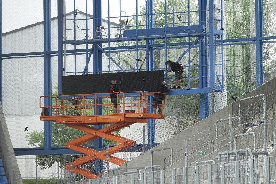 Neue Anzeigetafel für das Chemnitzer Stadion