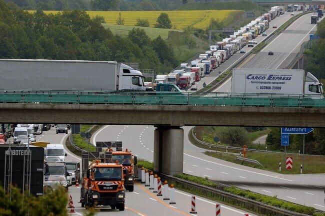 Die A 4 wird am Donnerstagabend zwischen Glauchau-Ost und Meerane voll gesperrt.