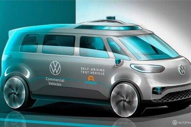 Der ID.Buzz von Volkswagen soll nicht nur vollelektrisch fahren, sondern auch autonom. 2022 soll er Premiere haben.