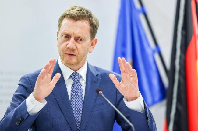 Sachsens Ministerpräsident möchte mit den Bewohnern von Zwönitz in den Dialog treten.