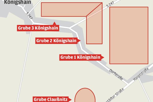 Hier, zwischen Altmittweida, Claußnitz und Königshain soll, Kies und Sand abgebaut werden.