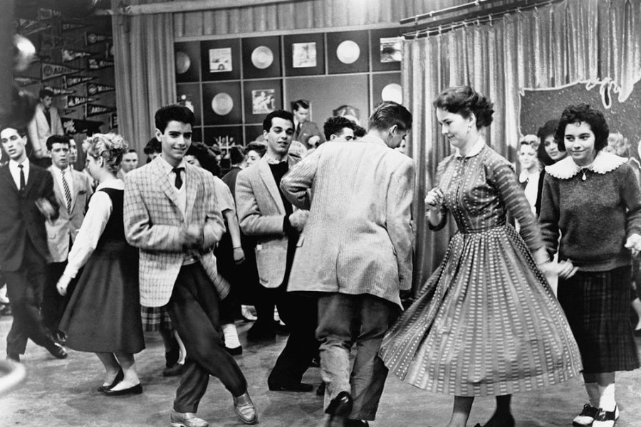 Twist-tanzende Teenager 1961 in den USA.
