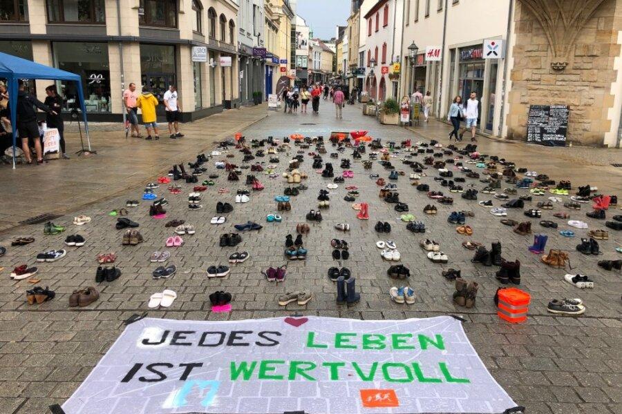 Zwickau: 497 Paar Schuhe verdeutlichen Drama im Mittelmeer
