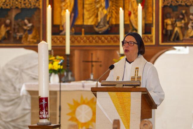 Pfarrerin Beatrice Rummel initiierte die Aufnahme Plauens in die Nagelkreuzgemeinschaft.