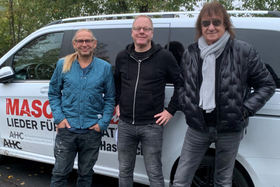 Uwe Hassbecker (li), Kai Suttner und Dieter Maschine Birr freuen sich auf den Chemnitzer Auftritt.