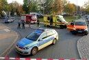 Der Unfall ereignete sich gegen 16.15 Uhr im Bereich des Kreisverkehrs Heinersdorfer/Bornaer/Blankenburger Straße.
