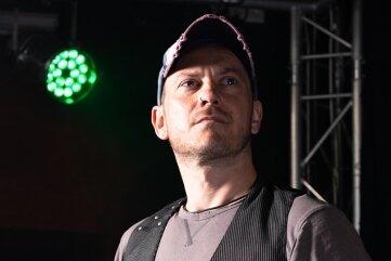 Michael Renk im Train Control Freiberg bei der Live-Stream- Produktion für Bergstadtkultur.